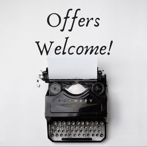 ✨ Welcoming all reasonable offers! ✨
